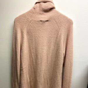 Halogen Cowl Neck Tunic Light Pink Sweater